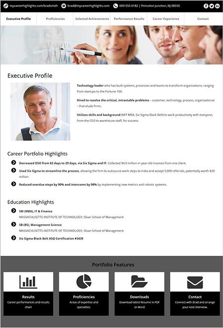 Example Web Portfolio
